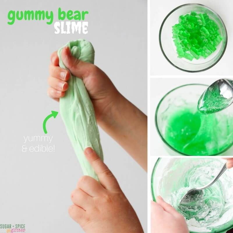 How to make slime out of gummy bears - an edible slime your kids will love