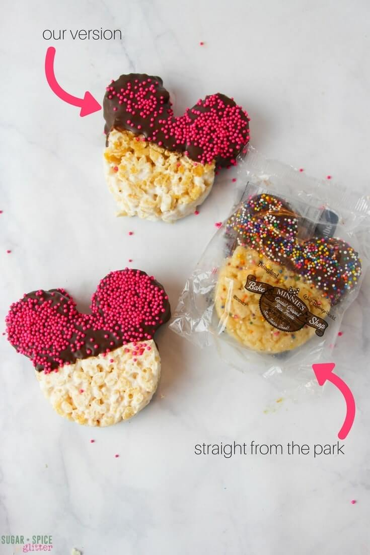 How to make easy Mickey rice krispie treats just like they make them at the Disney Parks