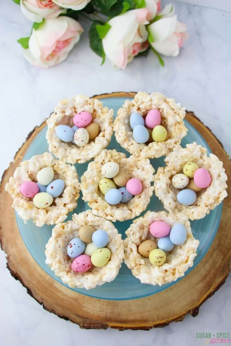 How to make Mini Egg Easter Nests with kids - a simple Easter dessert idea