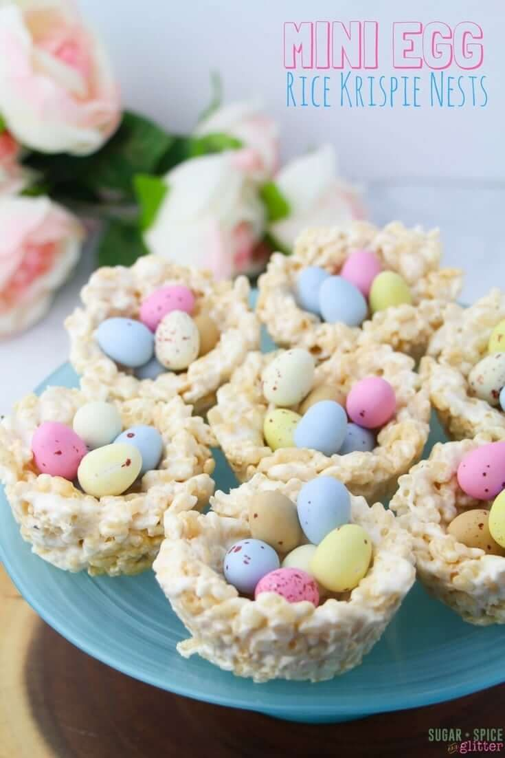 No-Bake Mini Egg Easter Nests