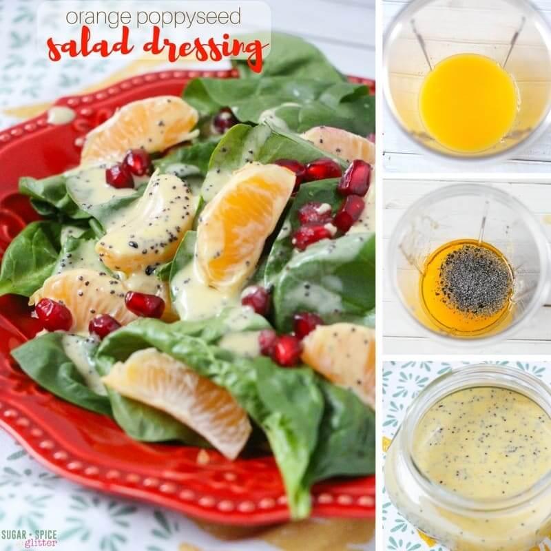 How to make a creamy, dairy-free orange poppyseed salad dressing
