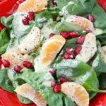 Pomegranate Salad with Fresh Orange Poppyseed Dressing