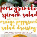 Pomegranate Salad with Fresh Orange Poppyseed Dressing