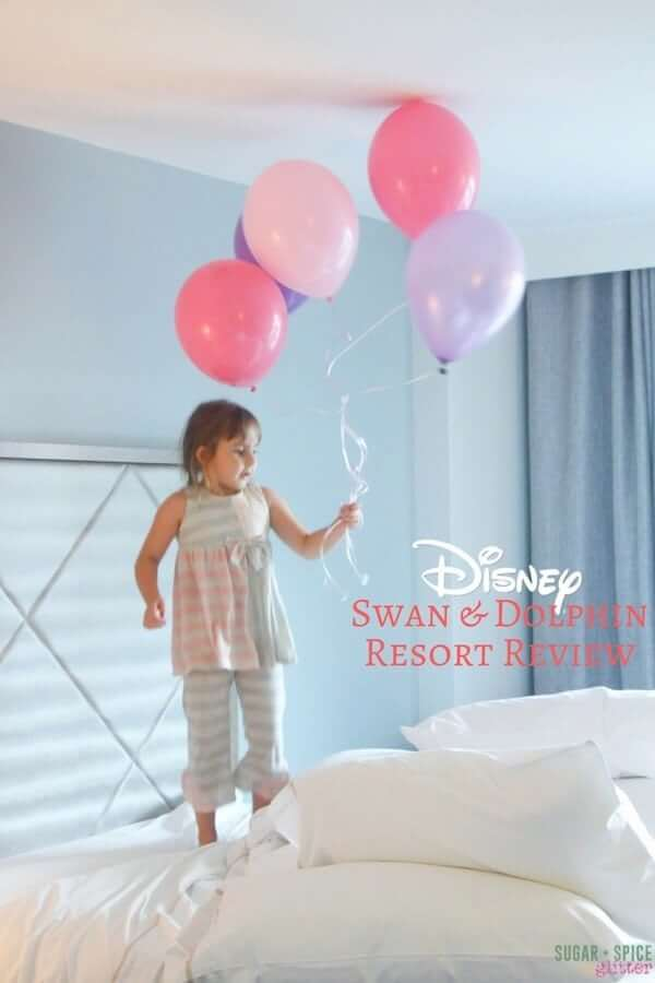 An honest review of the Walt Disney World Swan and Dolphin resort, including their Disney character meals at Garden Grove restaurant