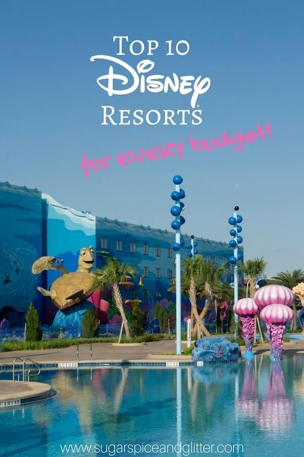 Top 10 Disney Resorts for Every Budget - from the best Deluxe resorts to Value resorts that give you a decent bang for your buck