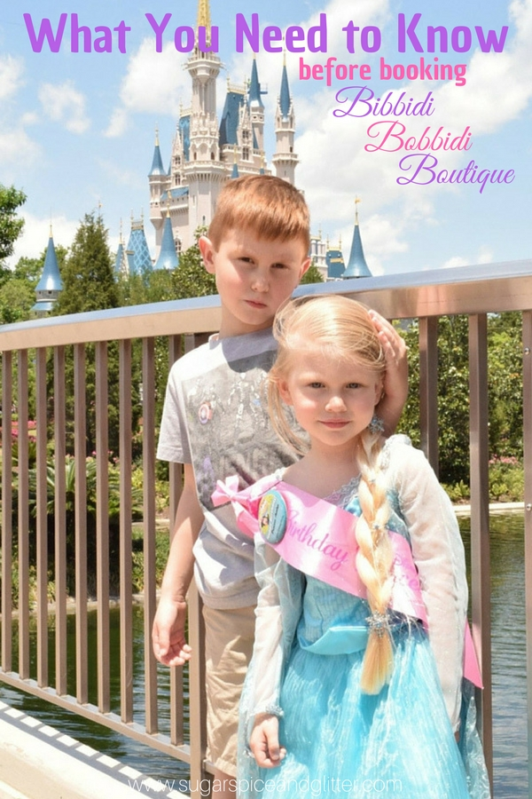 An honest review of Bibbidi Bobbidi Boutique at Walt Disney World and everything you need to know before booking