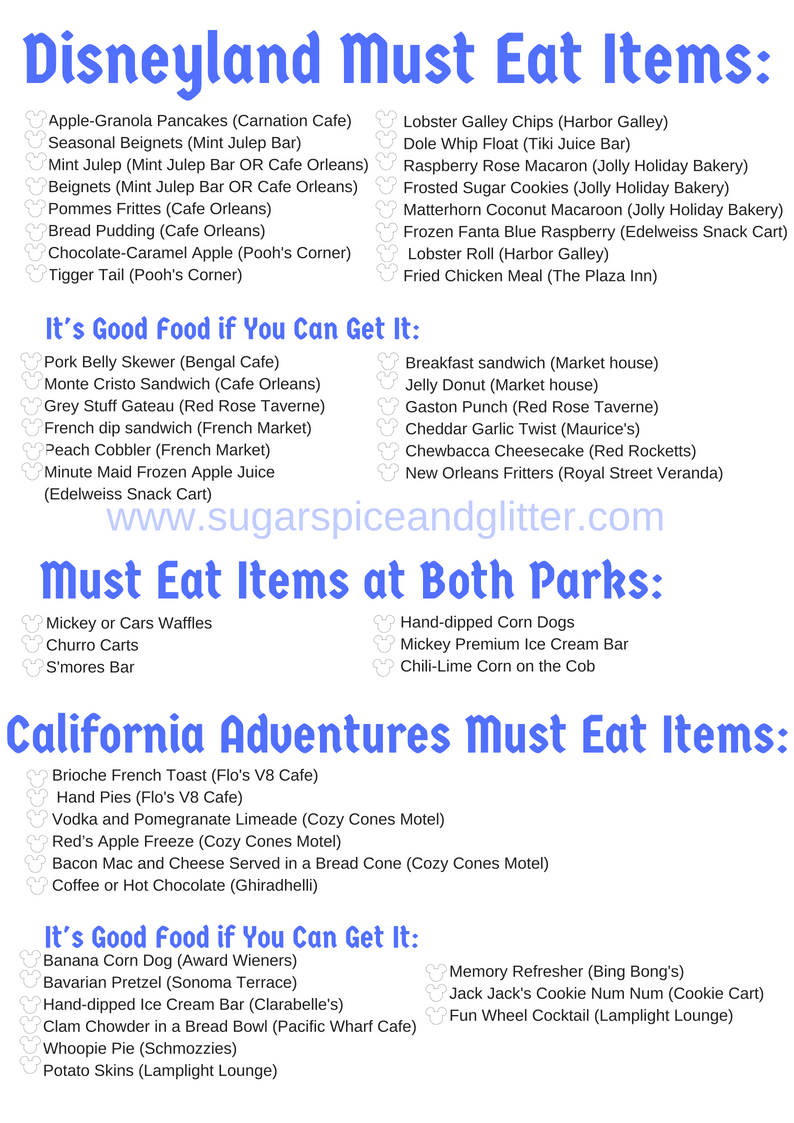 Everything you need to eat when you visit Disneyland
