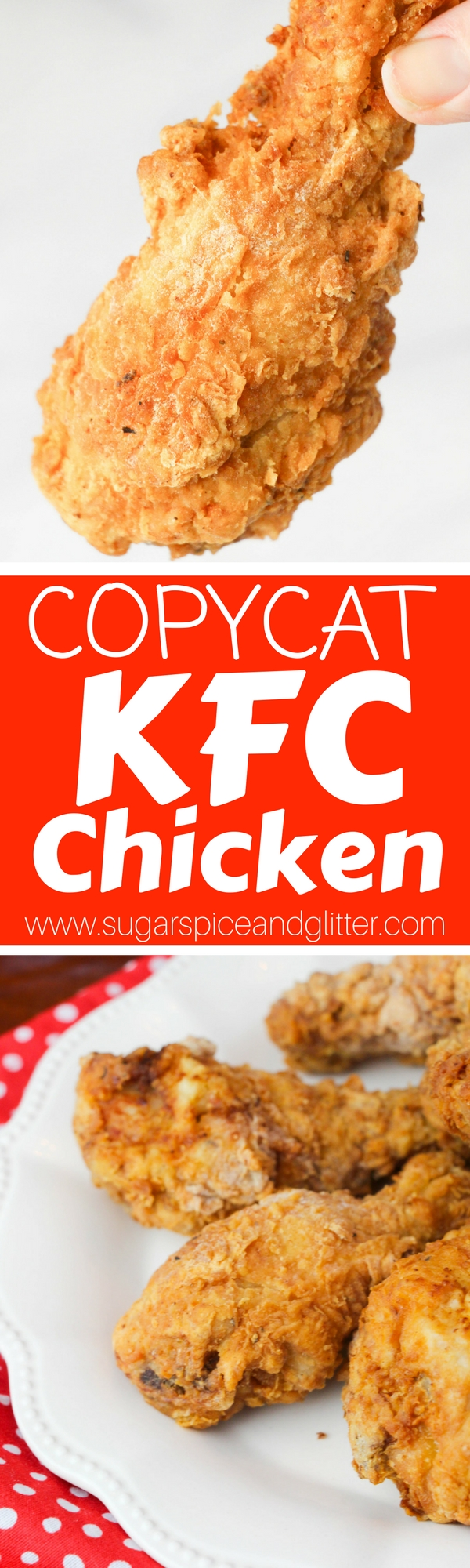 How to make crispy, flavorful Copycat KFC Chicken at home! This recipe is super simple and such a hit at potlucks, or just make it for a special family meal
