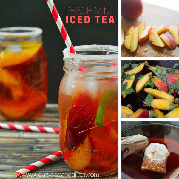 How to make a caffeine-free peach iced tea