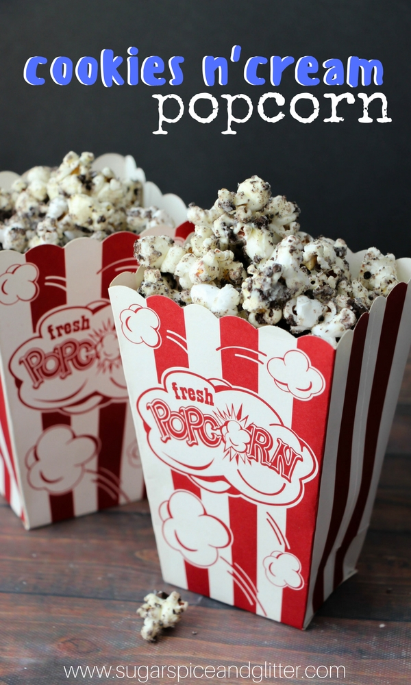 The perfect homemade popcorn recipe for movie night, this OREO Popcorn recipe is creamy, chocolatey and delicious