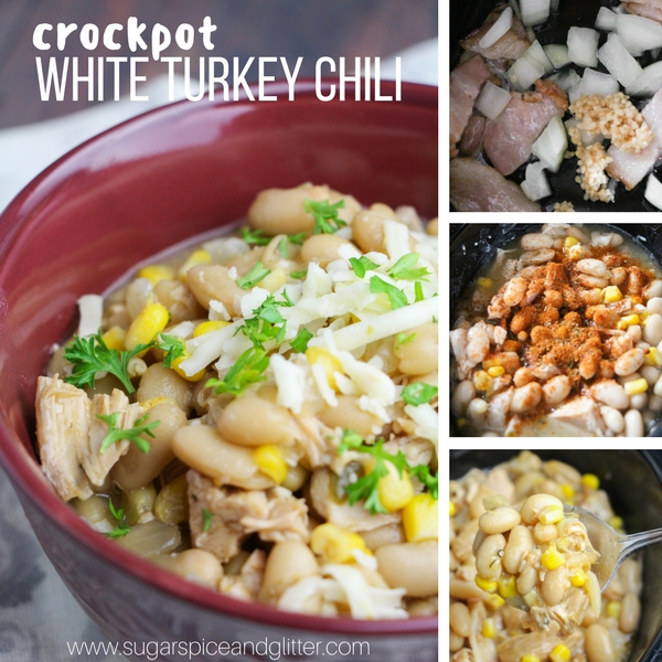 How to make white turkey chili in the crockpot