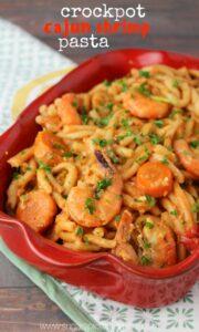 Slow Cooker Bang Bang Shrimp Pasta