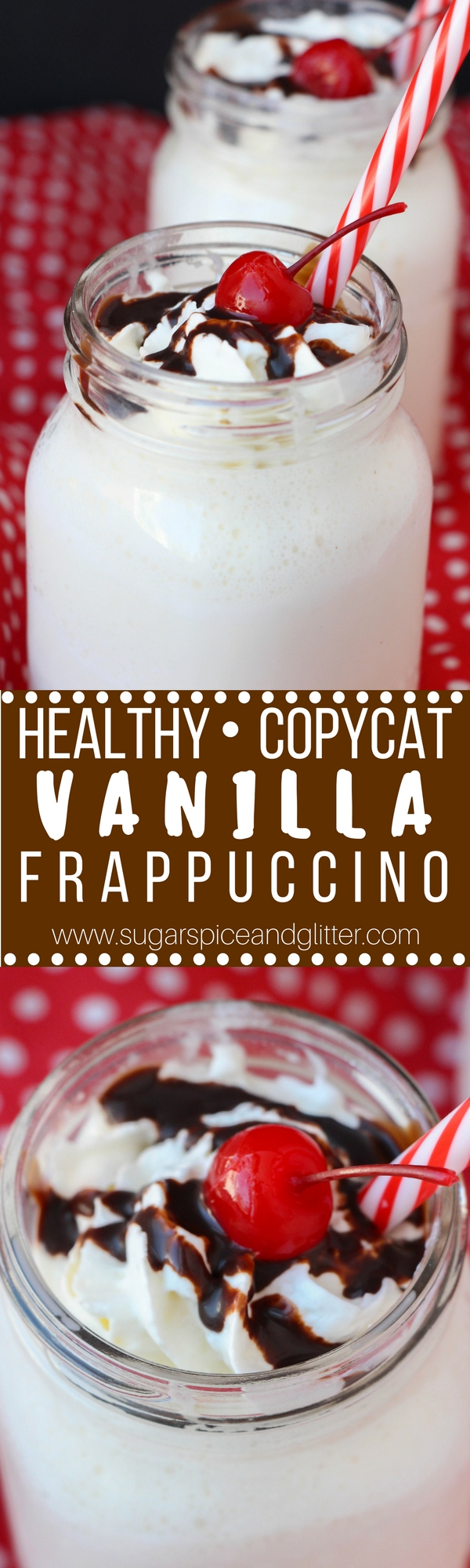 A healthy Starbucks copycat frappuccino - sugarfree with no artificial sweeteners, so you can indulge without guilt