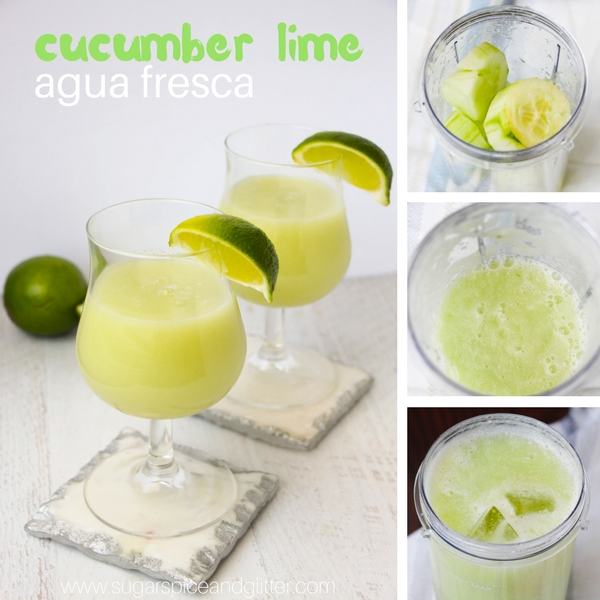 How to make a refreshing cucumber lime agua fresca drink