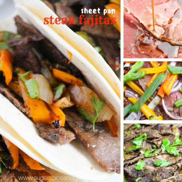 How to make sheet pan steak fajitas - step by step pictures