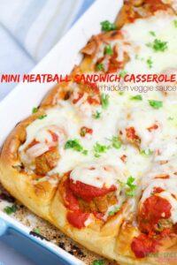 Pull-apart Meatball Sandwich Casserole