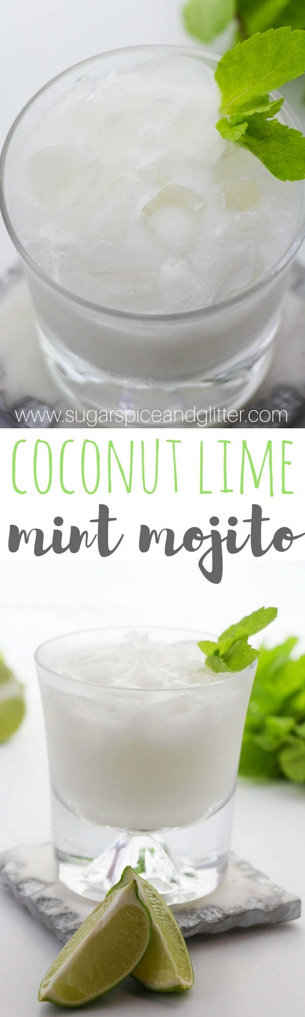 Coconut cocktail recipe - a fun mojito recipe made with coconut milk, lime juice, mint and rum. The perfect summer rum cocktail recipe
