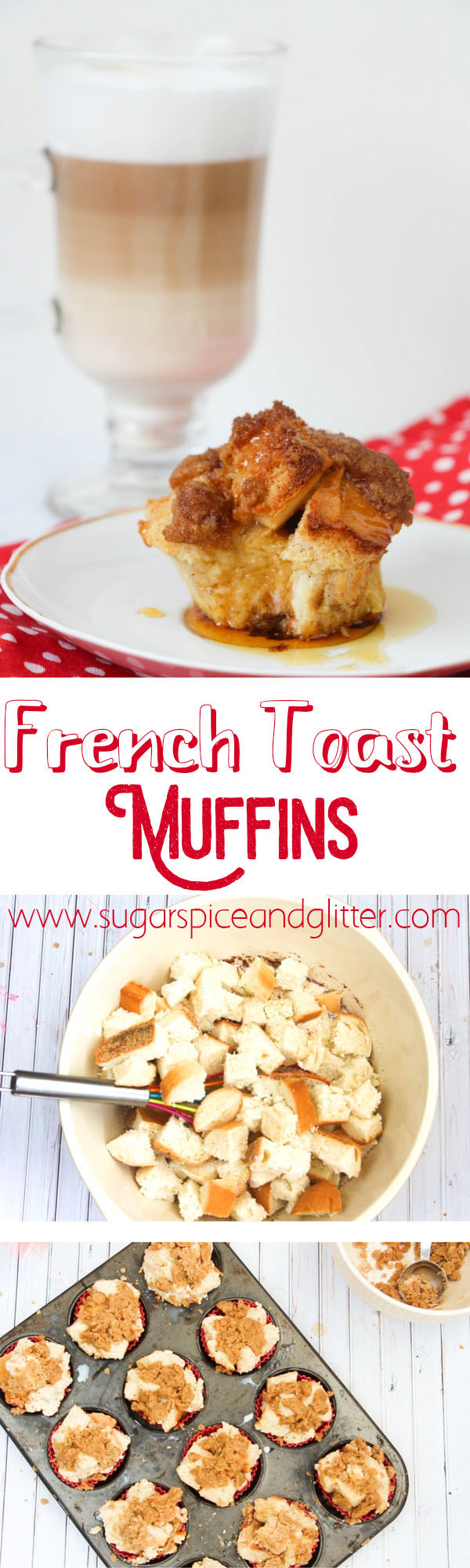 Super easy to make and absolutely delicious, these French Toast Muffins are a grab-and-go version of the brunch classic, so you can enjoy French Toast even in the middle of the week! Topped with a crunchy crumb topping, these French Toast Muffins are a delicious treat your whole family will love