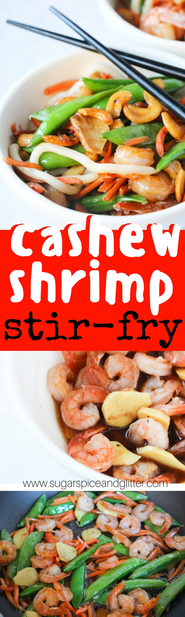 A delicious cashew shrimp stir-fry that costs less and tastes better than any take-out version! A copycat Asian recipe that your family will love