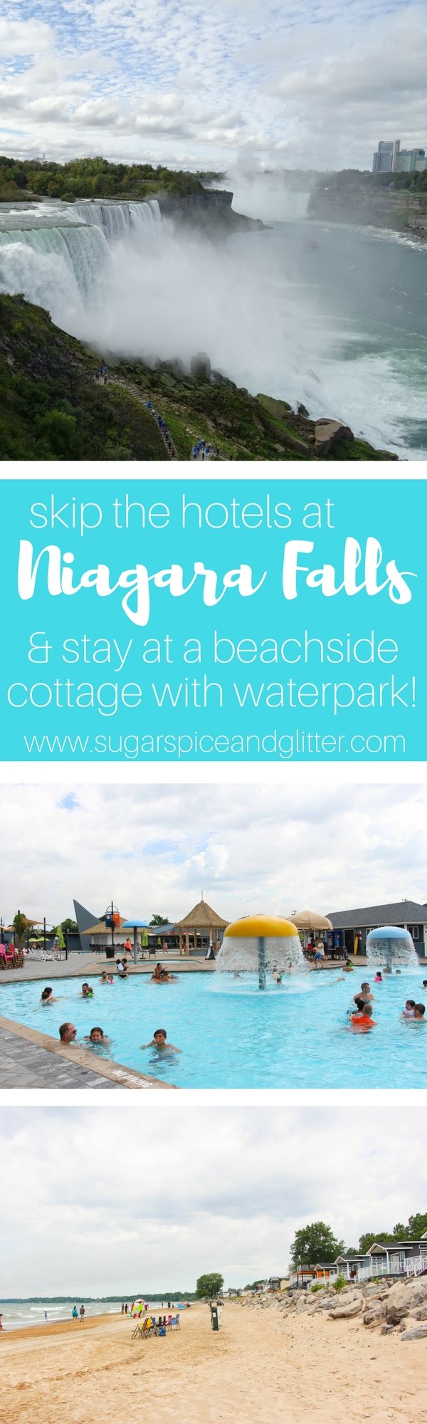 Skip the hotels and stay at this awesome beachside cottage resort for your Niagara Falls Family Vacation - on a budget!