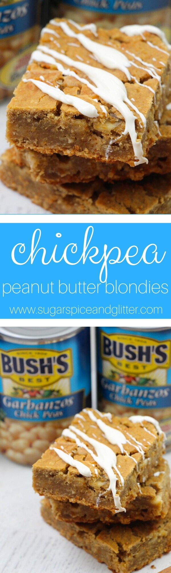 These chickpea peanut butter blondies are so decadent, you won't believe they are healthy for you!