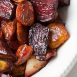 Roasted Chocolate Balsamic Glazed Vegetables