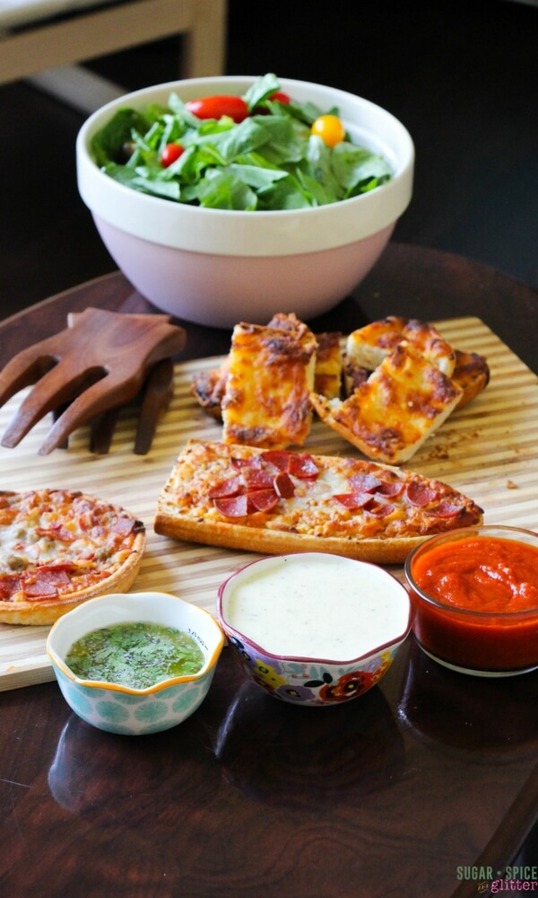 A delicious trio of pizza dipping sauces - each ready to enjoy in under a minute. The perfect pairing to your Red Baron pizza for the perfect family pizza night.