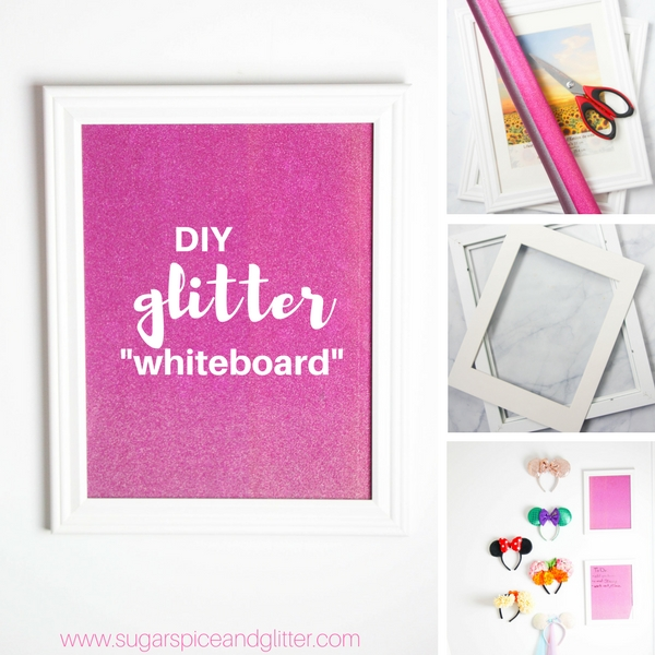 DIY Glitter Whiteboard