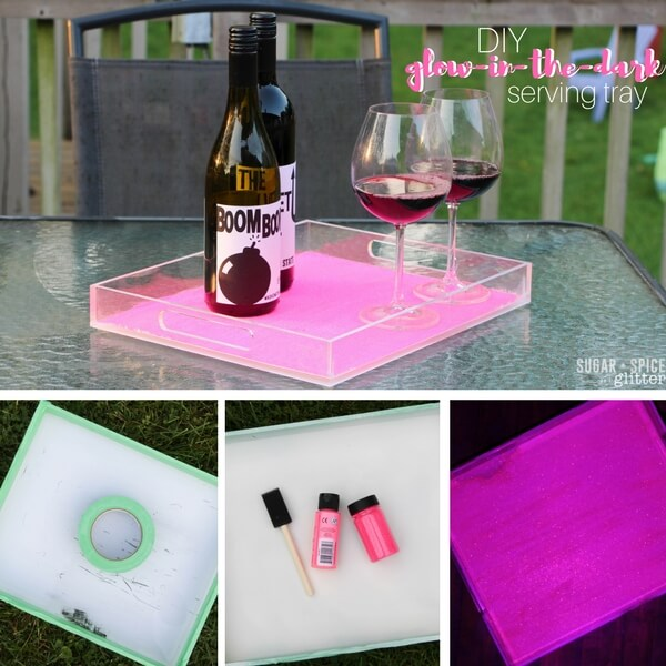 DIY Glow in the Dark Serving Tray