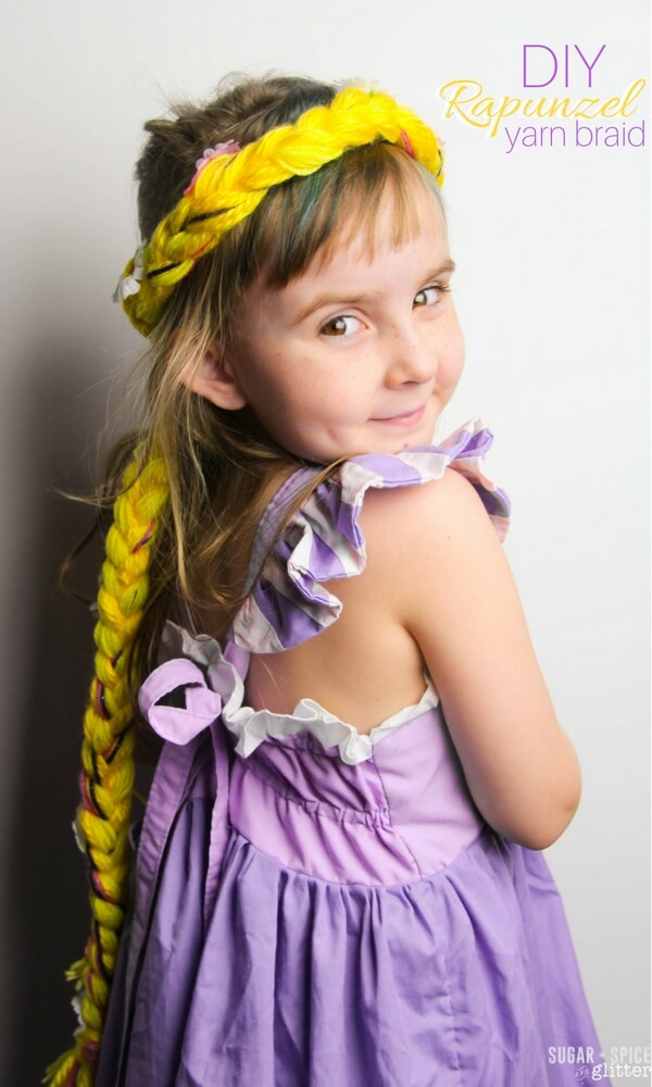 DIY Rapunzel Braid - perfect for the dress-up trunk or a homemade costume, this Disney-inspired craft is easy for kids to make independently and looks storebought!