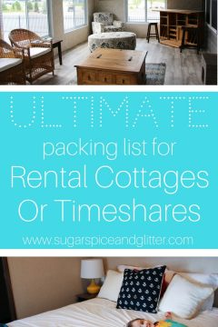 What to Bring to a Rental Cottage or Timeshare