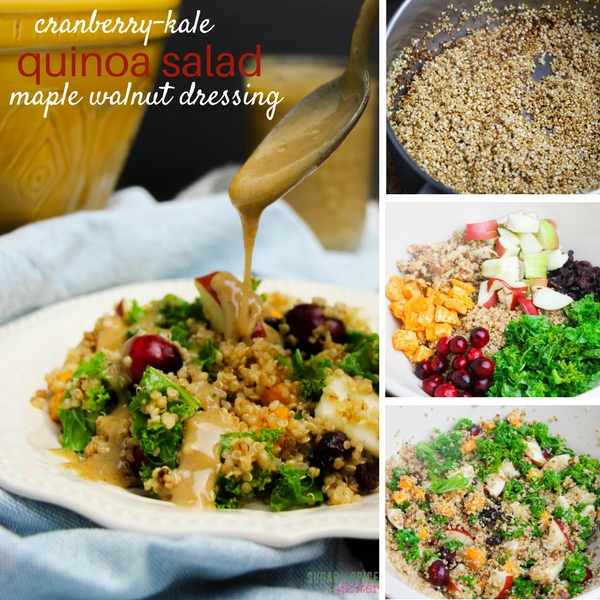 How to make a cranberry-kale quinoa salad for fall with maple walnut dressing