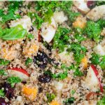 Fresh Fall Quinoa Salad with Maple Walnut Dressing