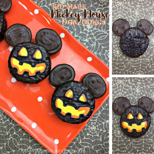 How to make Mickey Mouse chocolate lanterns