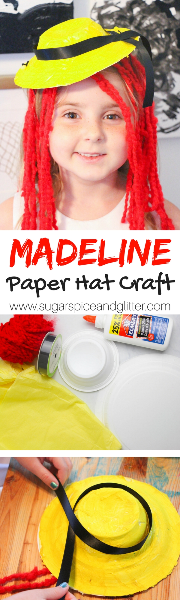 M is for Madeline Craft - a cute kids craft inspired by the classic children's book. The perfect way to use up leftover paper plates or yarn