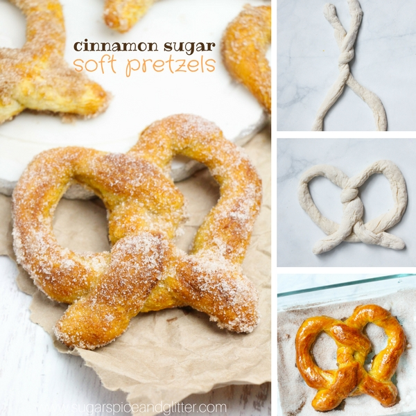 You will not believe how easy these cinnamon sugar soft pretzels are to make