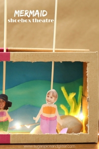 Mermaid Shoebox Theatre - an easy puppet theatre kids can make