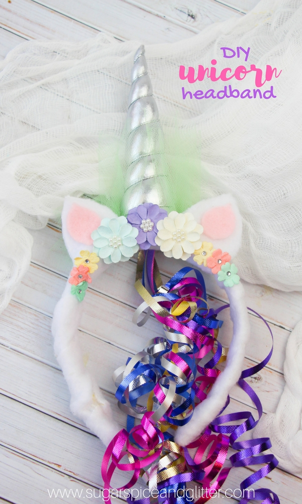 The perfect Unicorn Party Idea - a kid-made unicorn headband craft! These DIY Unicorn headbands are a great party favor or party activity