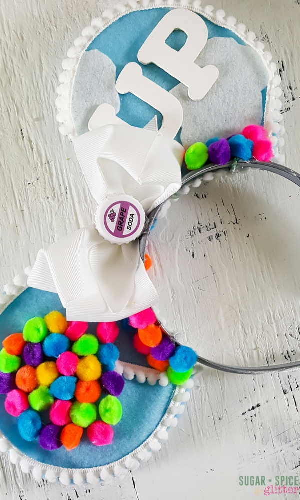 UP Mickey Mouse Ears, a fun DIY Mouse Ears idea for wearing to DisneyWorld - a Disney craft to pump you up for your Disney vacation