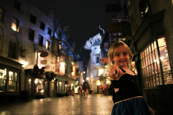Harry Potter Wizarding World at Universal interactive wand experience