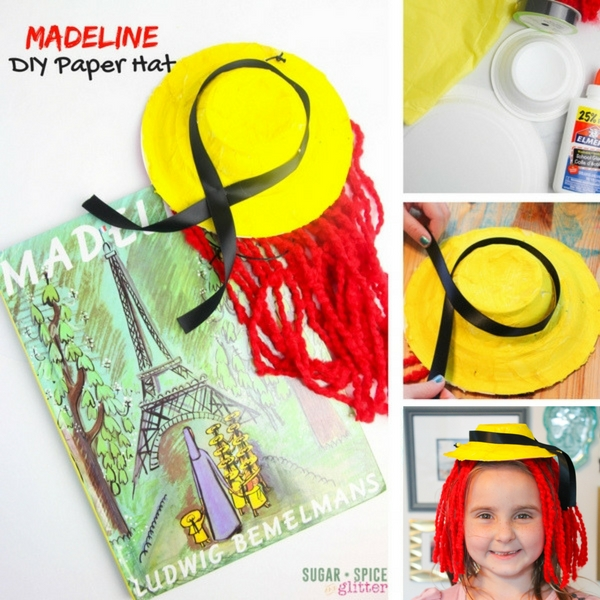 How to make a Madeline hat inspired by the classic Children's Picture Book by Ludwig Bemelman's