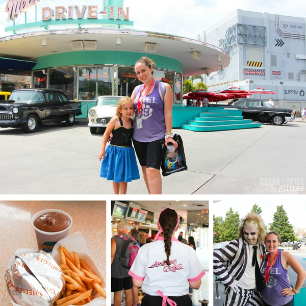 Mel's Drive in at Universal Studios Florida - the best hamburger at Universal Studios for kids