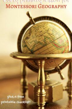 Montessori Primary Geography Checklist