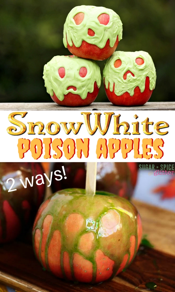 These Snow White Poison Candy Apple are such a fun Halloween recipe based on Disney's iconic poison apple now seen in Descendants. A fun food craft for a kids' Halloween party