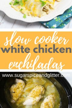 Slow Cooker Green Chicken Enchiladas (with Video)