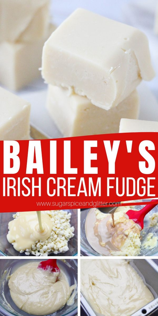 How to make Bailey's Irish Cream fudge with just 3 ingredients! A no cook fudge recipe perfect for gift-giving or holiday entertaining