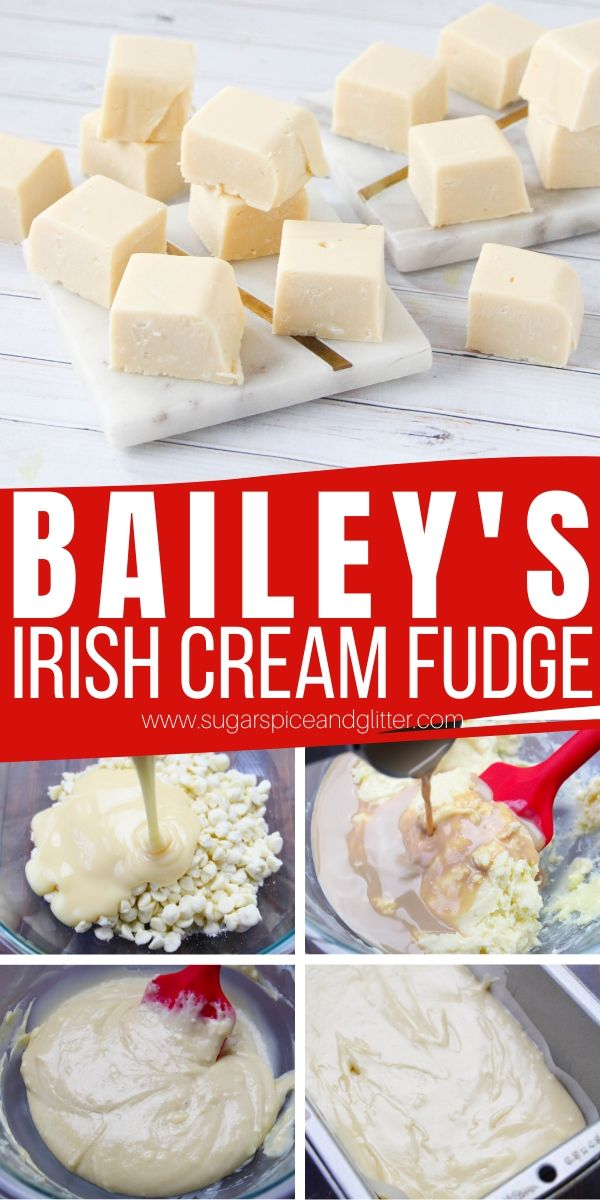 White Chocolate Bailey's No-Cook Fudge - for when you just don't want to share with the kids! A creamy and delicious no-cook fudge made with Bailey's Irish Cream and white chocolate chips. A delicious homemade gift just for grown-ups