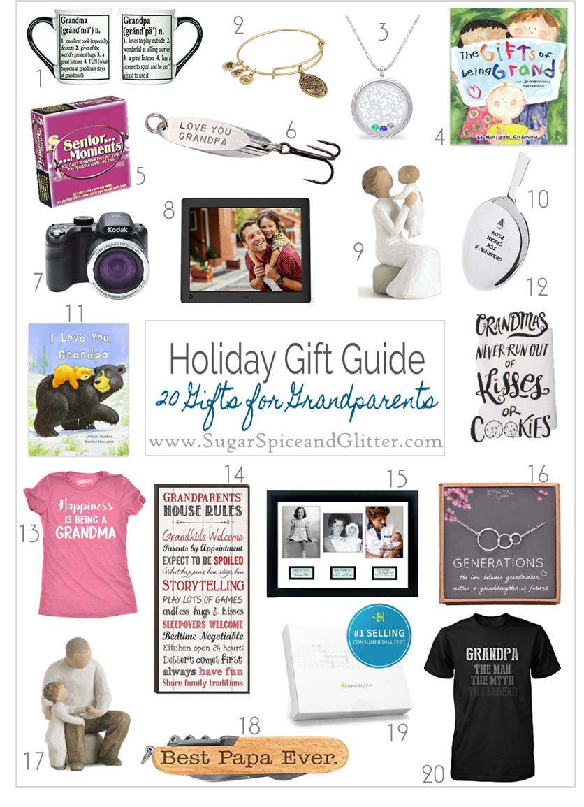Budget-friendly gift ideas for grandparents - cute t-shirts, pretty jewelry, books to read with the grandkids, and everything in between