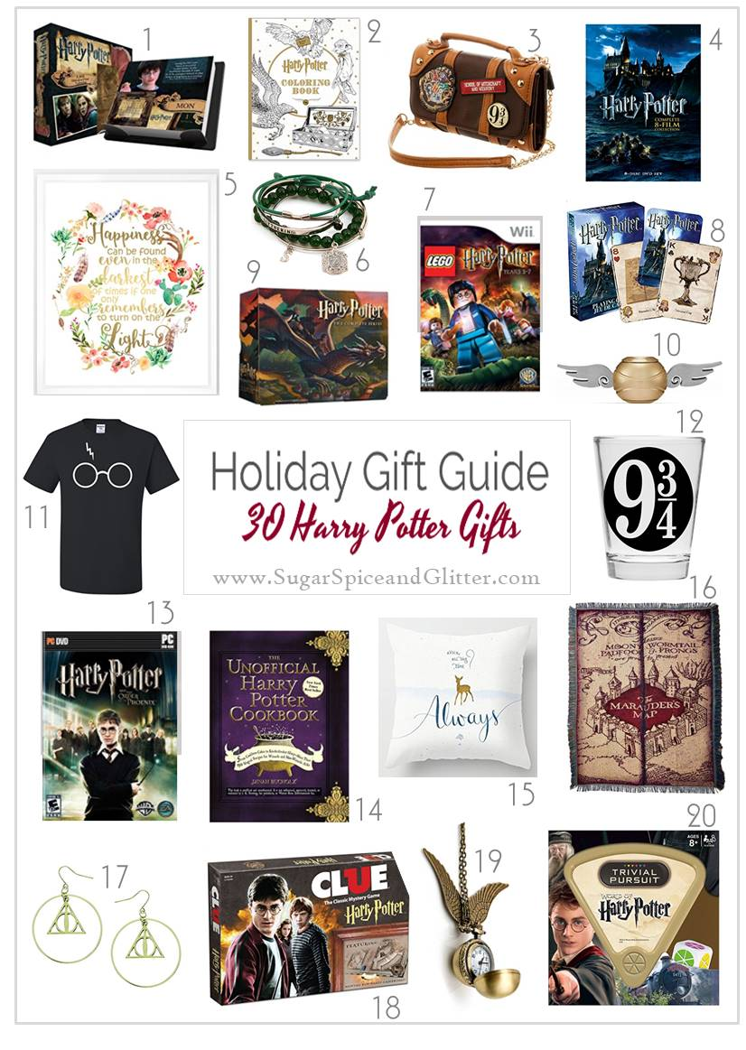 Over 50 Unique Harry Potter Gift Ideas - from board games, home decor, jewelry and more!