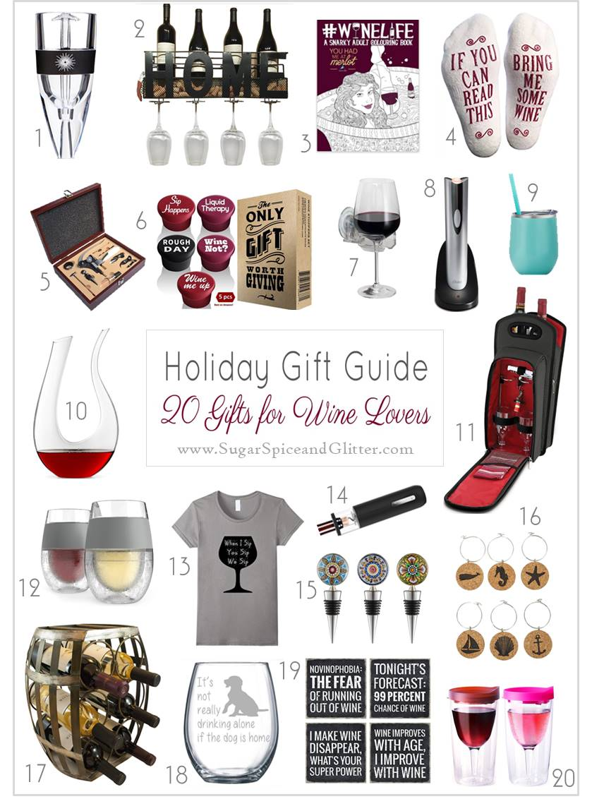 20 Awesome Gift Ideas for Wine Lovers - that isn't wine! Plus suggestions on great wines to pair with your gift